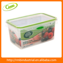 1.75L rectangle with color button storage box plastic food container