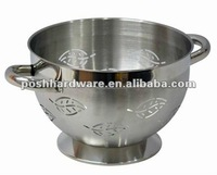Fashion Design stainless steel colander with handle