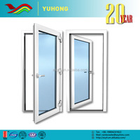 YH 2016 Low price custom flexible grill design used low-E glass patio french aluminum casement door