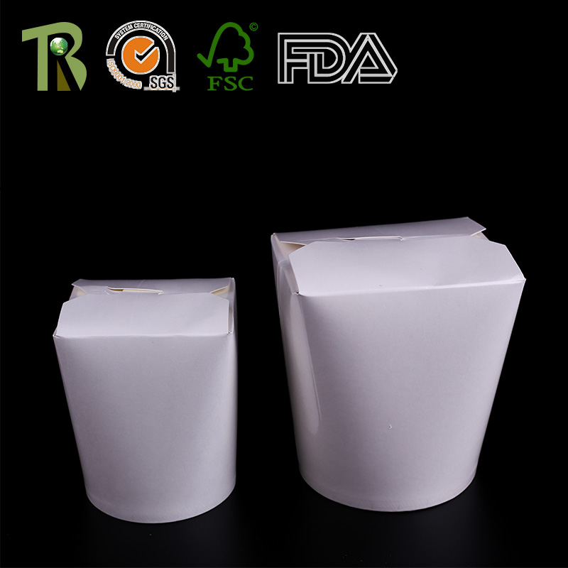 Custom Rounded Disposable Paper Noodle Box
