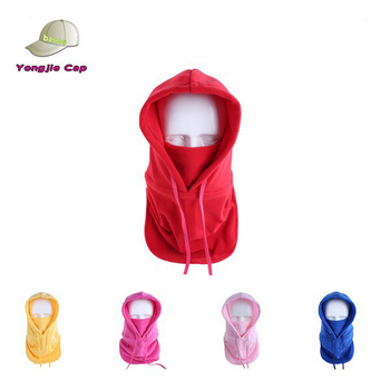 Promotional hot selling Colorful winter warmer head protect micro fleece balaclava