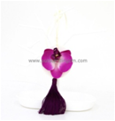Fake Flower Shape Scented Paper Hanging Aromatherapy Car Freshener With Tassel