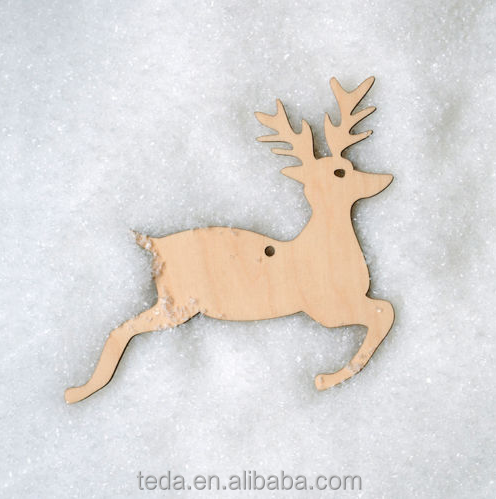 Wooden Leaping reindeer Shape Christmas Crafts