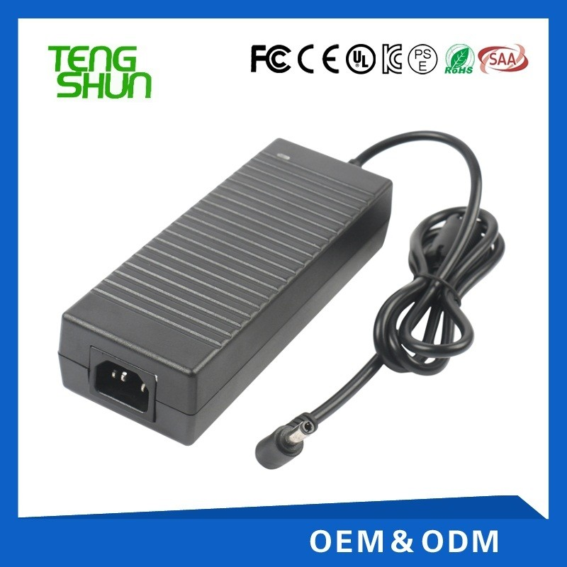 hot selling desktop 12v dc 10a plastic cctv power supply 12v 10a with CE UL GS SAA KC certificate