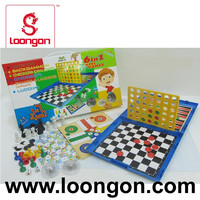 Loongon 6 in 1 mini plastic chess game