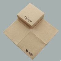 100% post-consumer recycled paper napkin