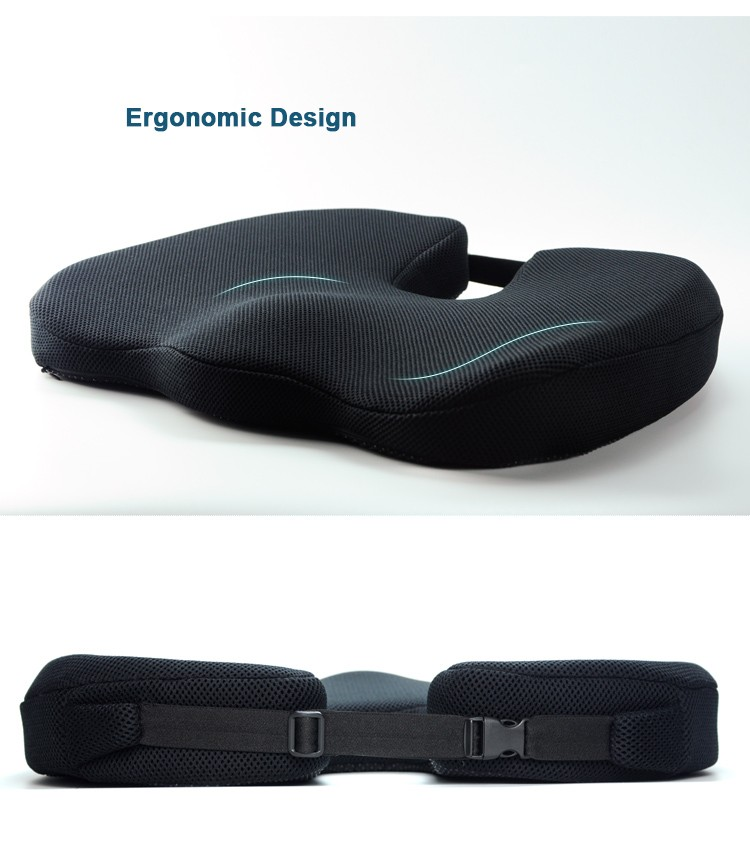 BYC Ergonomic Design Adult Drivers Memory Foam Auto Car Seat Cushions For Short People