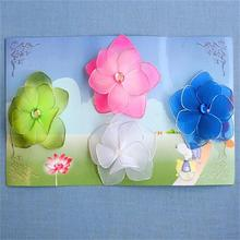 Artificial fibre ribbon organza flowers for home decor