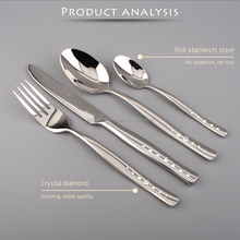 Wholesale Steak knives matte cutlery set/ laguiole steak knife with crystals diamond
