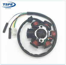 Hot Sales Motorcycle Direct Current 12V Copper GY6-50 8 Poles 6 Poles GY6-125 Magneto Stator Coil