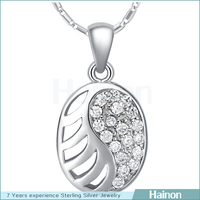 factory directly sell platinum double yin and yang pendant micro paved aaa cz
