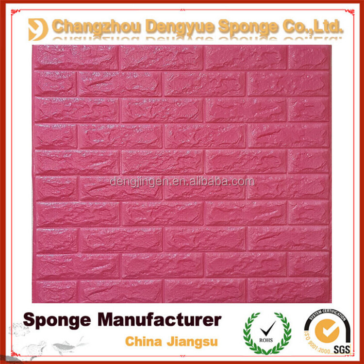 3d wallpaper for restaurant/Protection Foam Sticker/foam wall panels