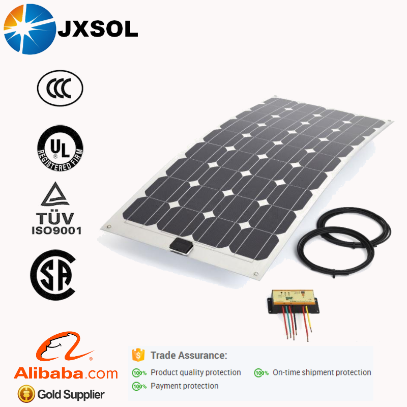 2016 high efficiency solar world top quality best price semi flexible sunpower 100w solar panel