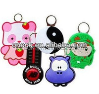 3d custom made soft pvc promotion keyring beautiful key chain