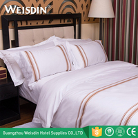 Guangzhou OEM 5 Star hotel cotton queen size bedding sets duvet cover