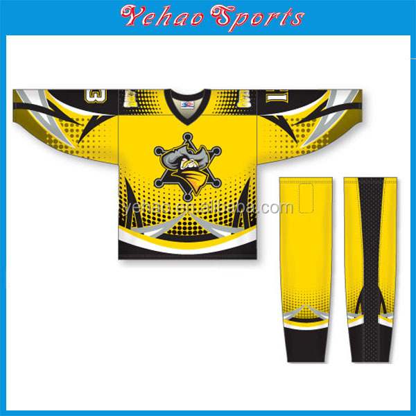 Wholesale custom sublimation canada ice hockey jersey for sale