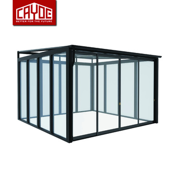Prefabricated  used glass sunroom panels Conservatory house