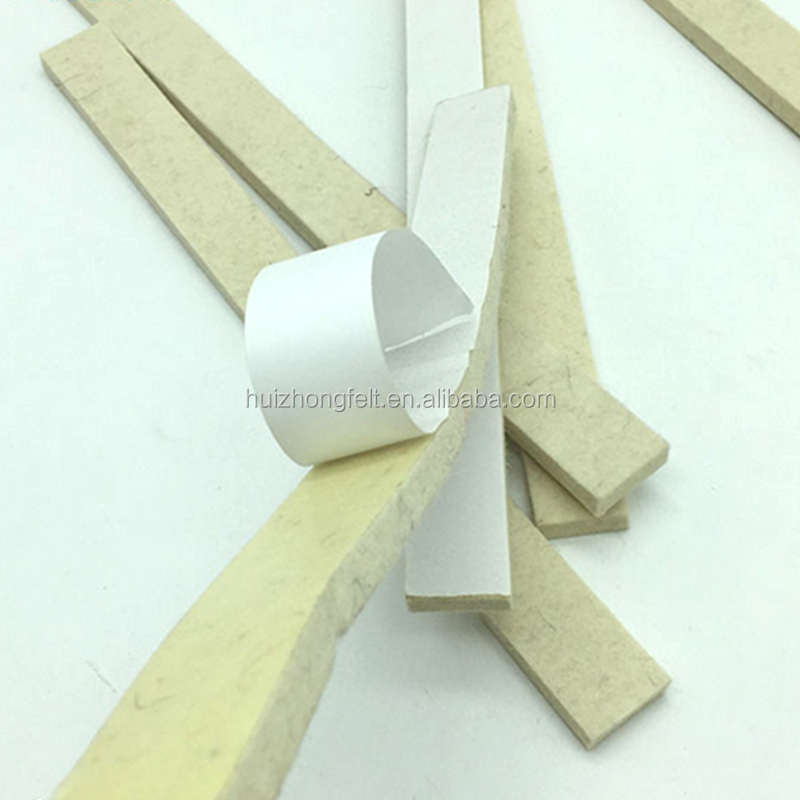 customized adhesive wool felt strip for industrial