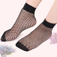 2018 Fashionable Sexy Women Fishing Net Short Sock Black Mesh Fish Net Sock