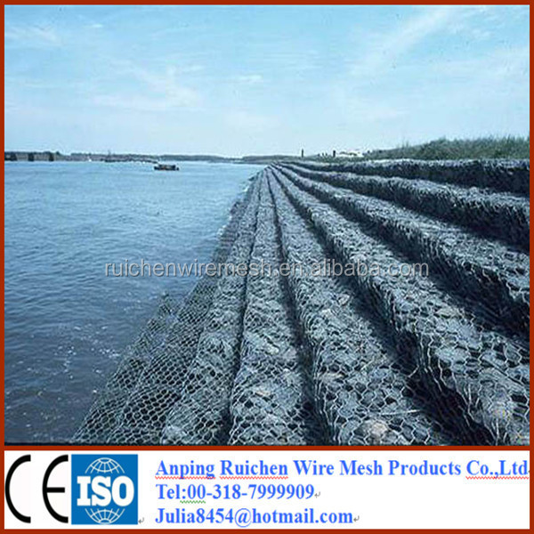 anping hexagonal mesh gabion box for sale