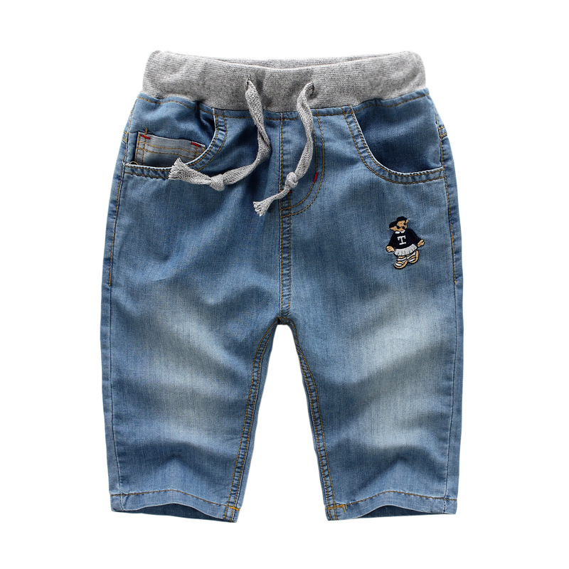 summer cotton casual jeans shorts children fashion Straight denim shorts good quality boys|girl loose board shorts free shipping