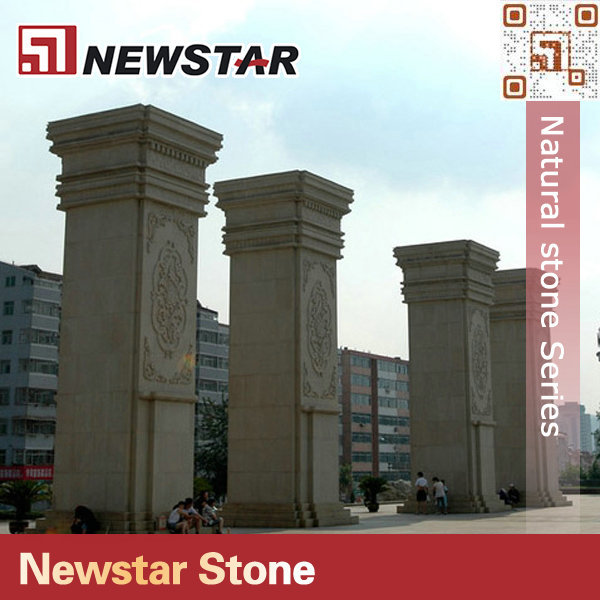 Main gate granite pillar design : Newstar stone gate pillar tiles buy