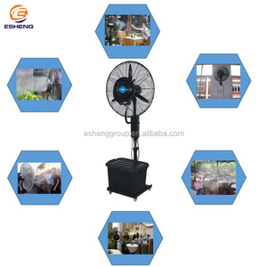 Summer hot sale electric power stand outdoor cooling water mist fan remote controller