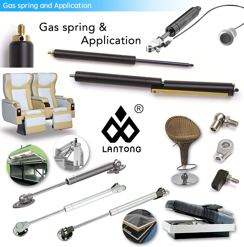 Stainless Steel Gas Spring master lift gas struts With End fitting