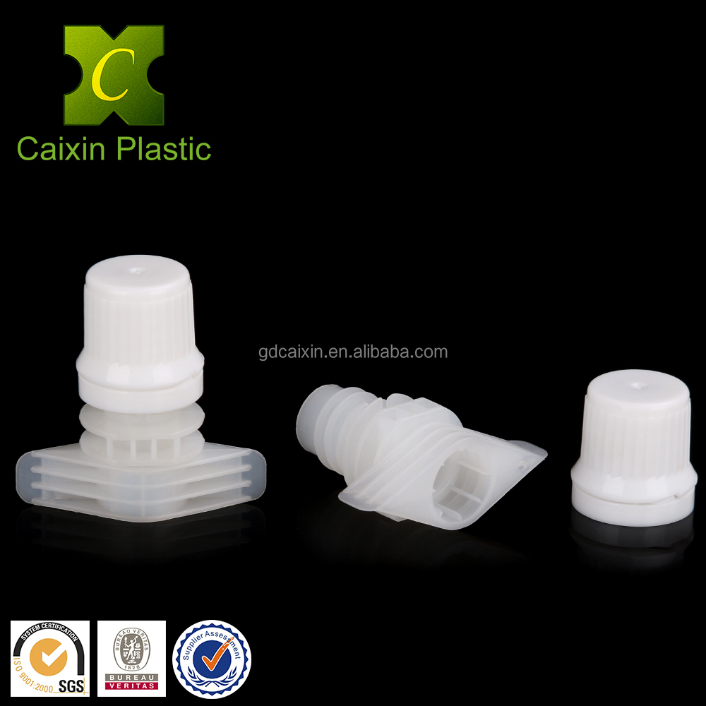 High quality plastic drinking straw/spout with cap 9.6MM