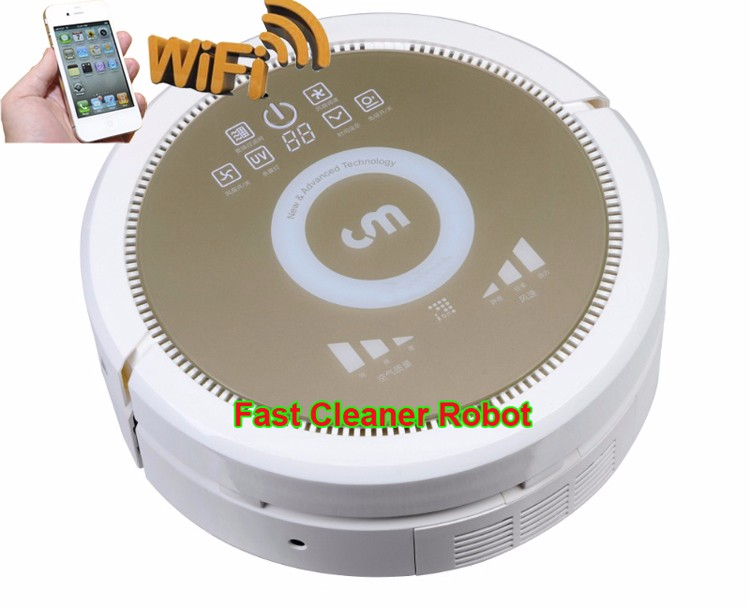 Smartphone WIFI APP Hom-bot Robot Vacuum Cleaner with NEWEST Air purifier Function