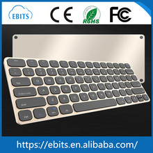 Slim black/white color mini wireless bluetooth keyboard for ipad/iphone/tablet pc/desktop