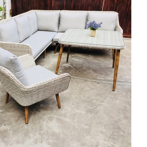 Fashion waterproof aluminium outdoor rattan comfortable chairs for the elderly