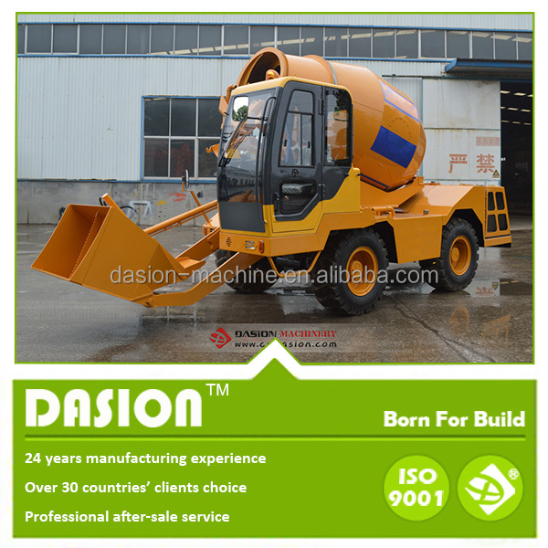 3 ton lifting bucket feed concrete mixer trucks for sale mixer DS3.5