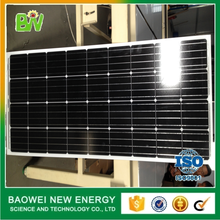 Baowei product easy installation mono 100w 18v solar panel