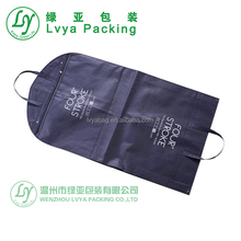 wholesale Personalised foldable design wedding dress hdpe plastic suit packaging non woven fabric garment cover bag