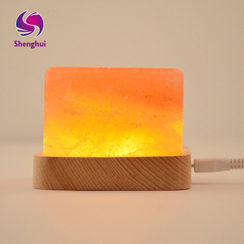 LED Night Light USB Rechargeable Salt Lamp Air Purifier Crystal Salt Rock Night Lamp