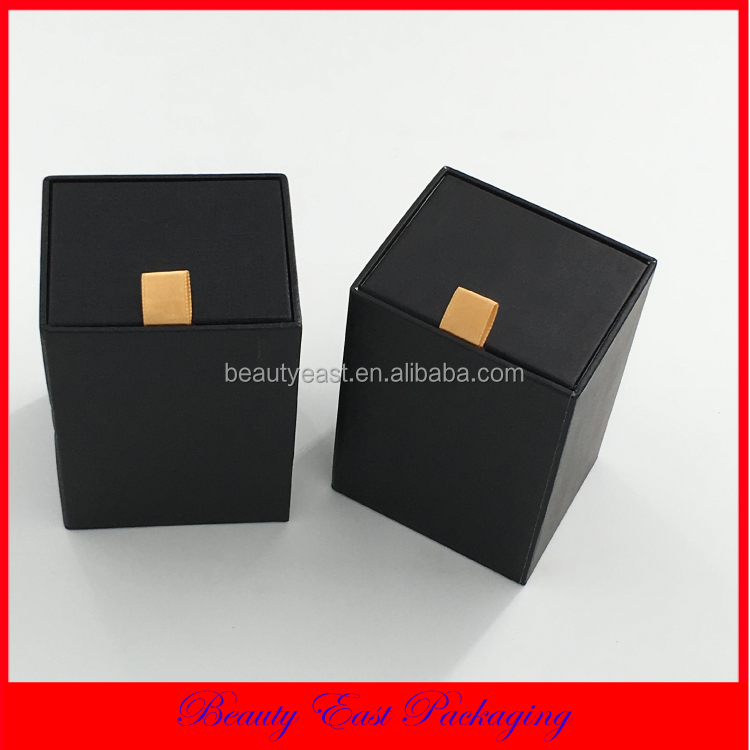 OEM Factory Custom Best Sale Luxury Design Black Watch Gift Box With Ribbon Drawer Gift Box Packaging
