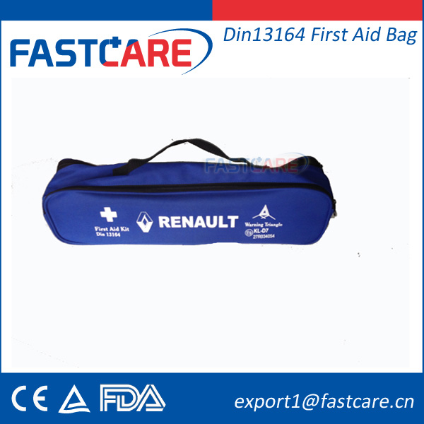 CE FDA Empty Din 13164 First Aid Kit Bag for Car
