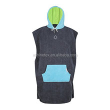 Wholesale towel poncho 100% cotton surf poncho