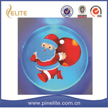 cheap price christmas gifts 2016 santa claus light badge,tin led badge for sale