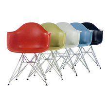 China modern design chromed leg high back plastic waiting room armchair salon