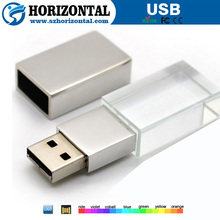 hot sale crystal usb disk with logo customized