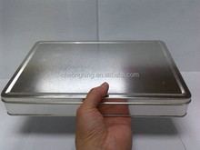 Natural color rectangular tin box