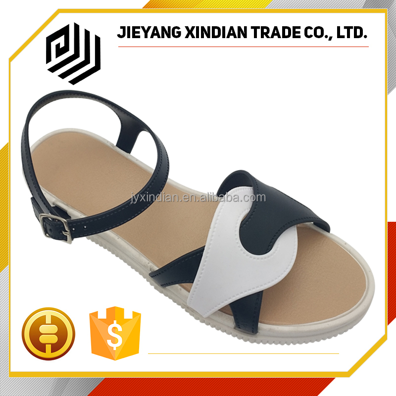 New nice design Womens Flat summer wholesale ladies fancy sandal 2017