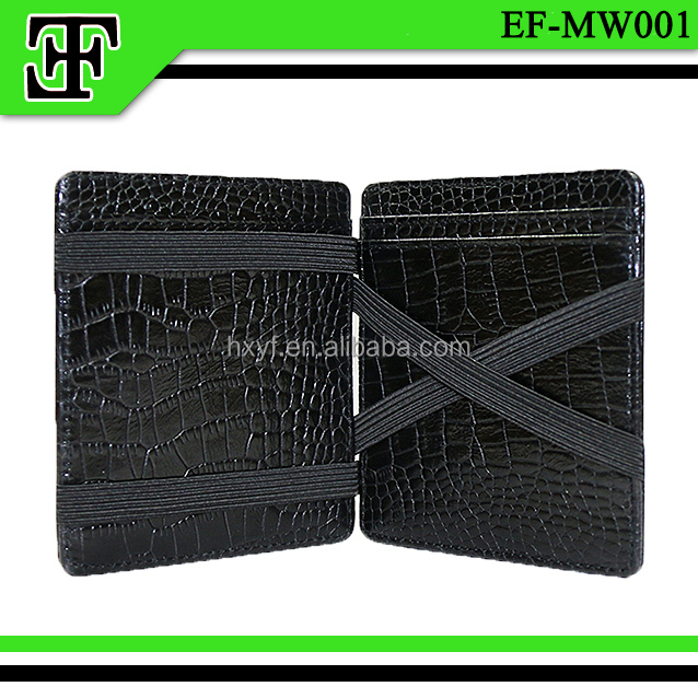 High quality new arrival funky crocodile leather magic wallet