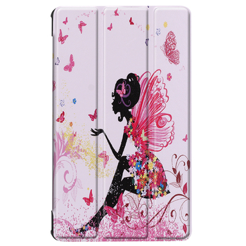 alibaba best sellers wallet fancy booklet leather case for Huawei M5 three folding case with printing