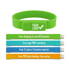 Giveaways silicon wristband usb flash drives, Bracelet Usb Pendrive, promotional corporate gift usb for events