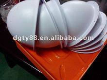 ABS hard material vacuum forming thick film blister safety helmet of plastic