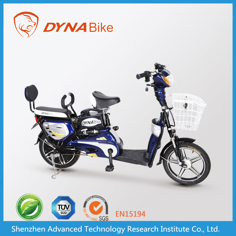 DYNABike two seat bike cheap electric bike with pedals 240w gear motor