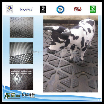 harmmer top surface Rubber Stable Mat / Cow Mat /rubber cattle mat/ Rubber Flooring for Horse